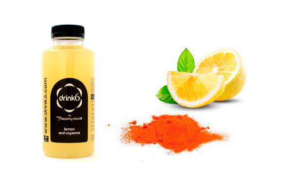 ZUMO: Limón y cayena }}