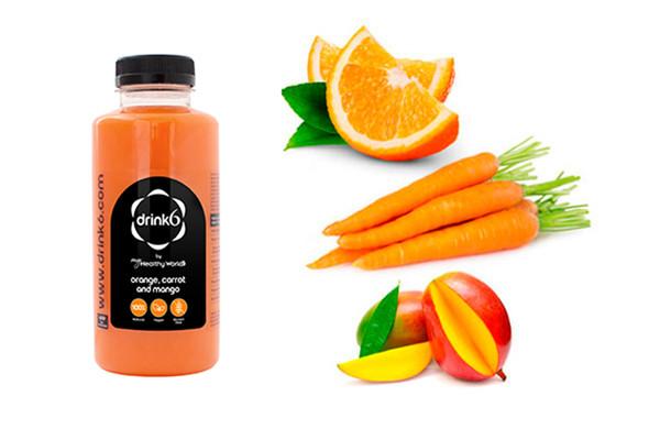 ZUMO: Naranja, zanahoria y mango }}